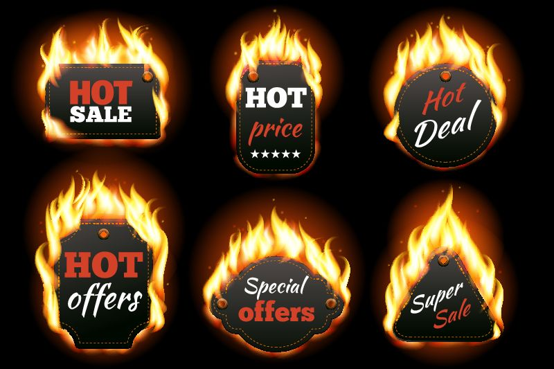 bigstock-Vector-fire-labels-set-96404699